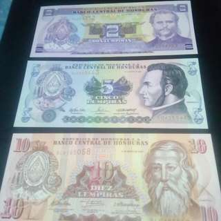 Note Honduras, 1 set.