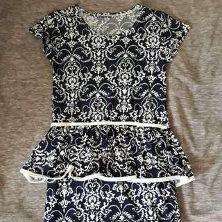 Body con peplum dress