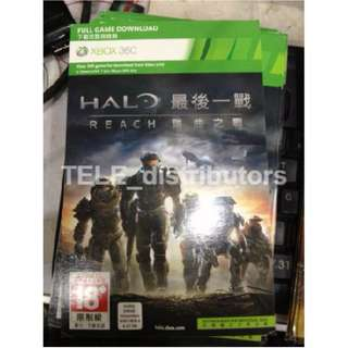 Halo Reach xbox 360 xbox ONE game download code 賣場下載