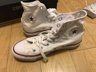 New Converse High dunk white canvas shoes US5.5 Eu Ez 36
