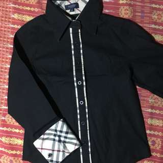Burberry Black Long Sleeves