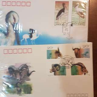 First Day Cover - animals in China