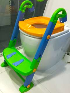 Toddler toilet seat with step ladder