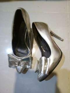 Silver heels