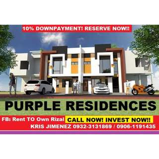 Purple residences Ready for occupancy 2 units in marikina heights @ 10 % LOW DOWNPAYMENT