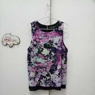 Flower Sleeveless Shirt