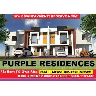 Purple residences fully finished house and lot thru bank or cash READY FOR OCCUPANCY