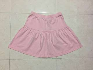 Girl's pink casual skirt