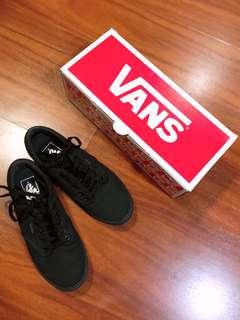 Vans black canvas womens shoes