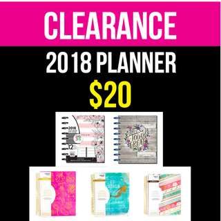 Clearance, 2018 Planner