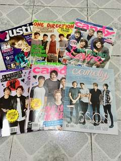 One Direction, 5SOS and Justin Bieber magazines