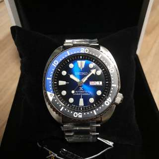 BNIB Made in Japan SEIKO PROSPEX TURTLE 200M AUTOMATIC BLACK/BLUE REF. SRPC25J1 SRPC25J SRPC25 Man Watch