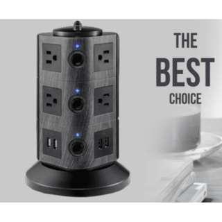USB立式多孔插座