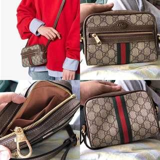 Brown Ophidia GG supreme Mini bag