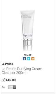 La Prairie Purifying Cleanser Cream Luxury Face Cleanser