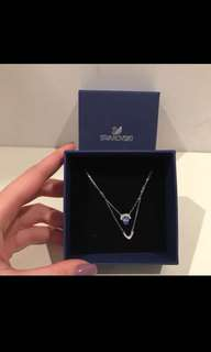 Authentic Swarovski crystal double loop Necklace