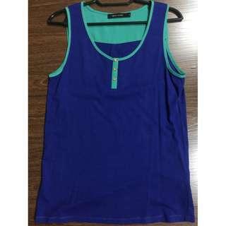 G2000 Woman casual tanktop blouse blue green 32