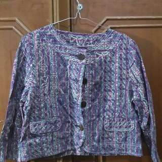 Croptee Batik Ungu