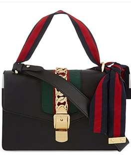 (代購)Gucci Sylvie Leather Shoulder Bag