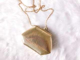 Sasha Gold Vintage Sling Clutch Evening Bag