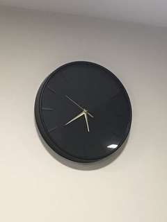 Brand New Black And Gold Wall Clock