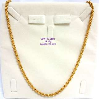 Hollow Gold Rope Chain