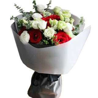 Fresh Flower Bouquet Anniversary Birthday Flower Gifts Graduation Roses Sunfowers Baby Breath -  6BC77     65