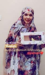 Mukena New dan Hijab pl like new