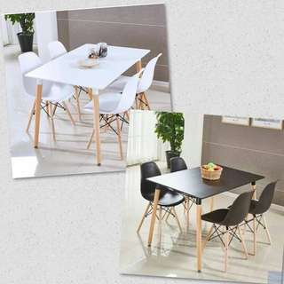 Eames Dining Table 4 Chairs