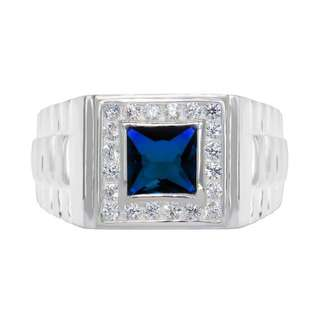 925 GENUINE SILVER ENGAGEMENT RING R43 - THE BLUE CHARIOT