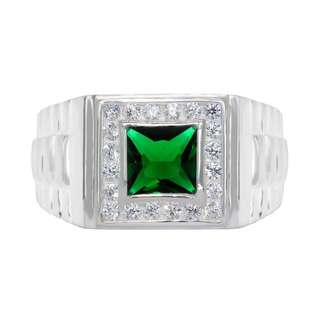 925 GENUINE SILVER ENGAGEMENT RING R43 - THE GREEN CHARIOT