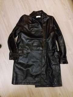 Farhi by Nicole Farhi Vintage Genuine Leather Jacket 復古真皮長褸