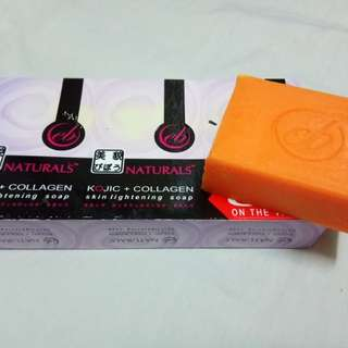 Papaya soap and Kojic + collagen soap