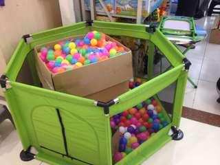 Playpen with Ocean balls