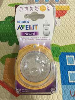 Avent Natural Teats-6 months (4 holes)