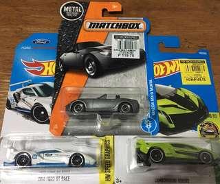MB Miata, HW '16 Ford GT Race, HW Lambo Veneno