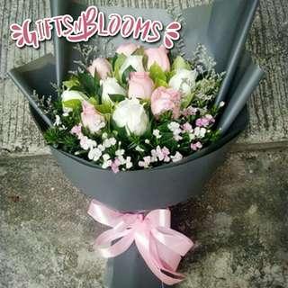 Valentine Anniversary Birthday Flower Gift Bouquet V11 - DQAKC     73