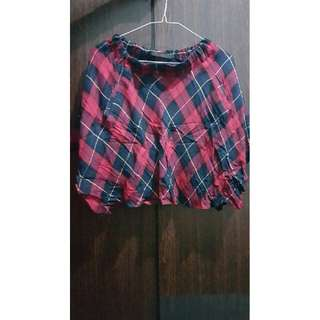 Checkered Skirt (Red & Black)