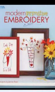 Modern Primitive Embroidery (Leisure Arts #4424)