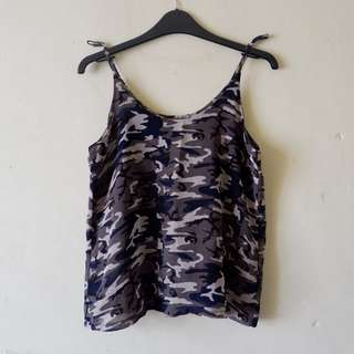 Navy Camouflage Top