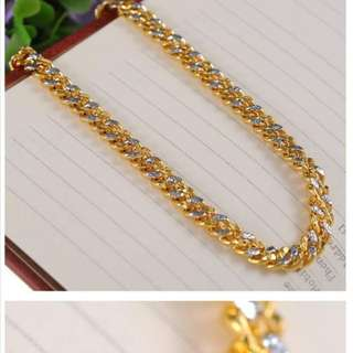 24K Korean Gold plated bracelets. Similar to 916 gold  ✔✔DURABLE 2 YRS ✔✔SOLID WEIGHT