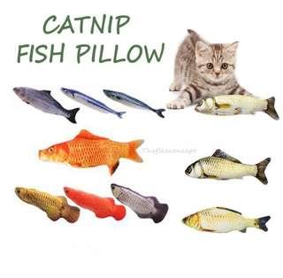 3 for $18 FREE NM- FREE CATNIP POWDER - FISH PILLOW / CAT TOY