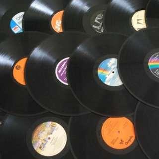 10 x random Piring Hitam Hiasan Decoration Vinyl LP Record
