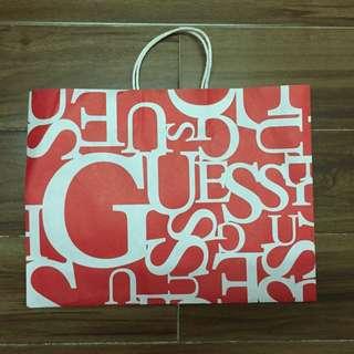 Guess紙袋 paper bag