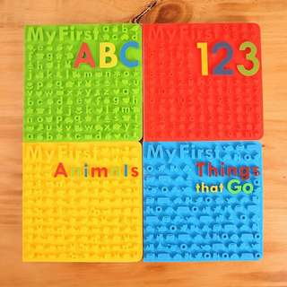 My first 系列books Bday (ABC,123,Animals,Things that go)書