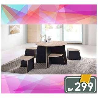 KOREA TABLE WITH STOOL