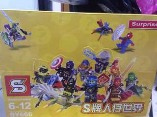 Brick toys surprise from Ninja, Badman, Captain American