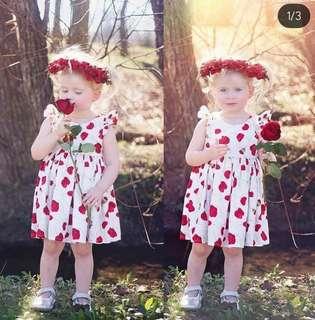Girl's Rose Dress