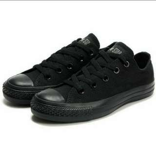 Converse CT low full black