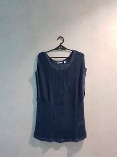 Uniqlo Navy Blue Knitted Cover Up